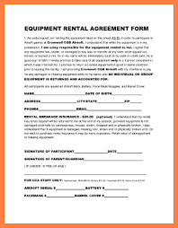 Equipment Rental Contract Sample Fascinating 48 Equipment Rental Agreement Form Template Purchase Agreement Group