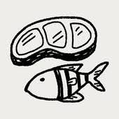 fish meat clipart. Wonderful Fish Fish Meat Doodle Doodle Fish For Meat Clipart M