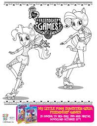 Small Picture Image Pinkie Pie and Rarity Friendship Games coloring pagejpg