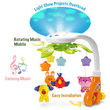 Light Show Mobile Baby Kiddolab Baby Crib Mobile With Lights And Relaxing Music