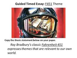 the pedestrian ray bradbury ppt guided timed essay f451 theme copy the thesis statement below on your paper ray