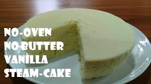 Super Soft Vanilla Steamed Cake Without Oven In Sinhala Youtube