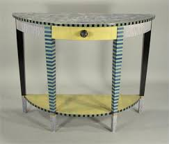 hand painted furnitureDemiLune Console Table PeriwinkleLemon from Suzanne Fitch