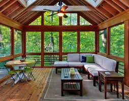 modern sunroom designs. Contemporary Small Sunroom Ideas Displaying L Shape Dark Brown Varnishes Solid Wood Benches With White Fabric Modern Designs