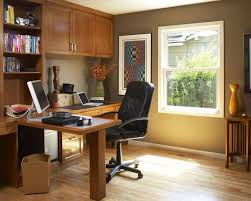 workspace furniture office interior corner office desk. Brown And White Themed Cool Home Office Design With Simple Wood L Shaped Desk On Workspace Furniture Interior Corner