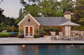 Delighful Pool House Plans With Living Quarters Guest Home Design And Style Throughout