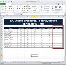 create a column where the calculated letter grade will appear