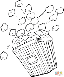 Small Picture Bag of popcorn coloring page Free Printable Coloring Pages