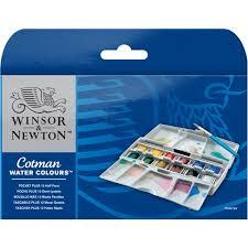 Winsor And Newton Cotman Color Chart Cotman Water Colours Pocket Plus 12 Half Pans Winsor