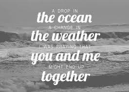 A Drop In The Ocean Song Lyrics Gif WiffleGif Fascinating Song Lyric Quotes