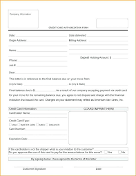 Party Credit Card Authorization Form Company Template In French ...