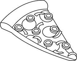 pizza clipart black and white. Pizza Black And White Clipart Throughout