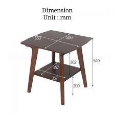 bristol solid wood side table bedroom