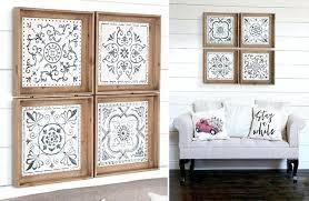 vintage style wall art vintage inspired metal tile wall art set of 4 farmhouse cottage vintage vintage style wall art