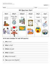 Wh Questions Worksheets Pdf
