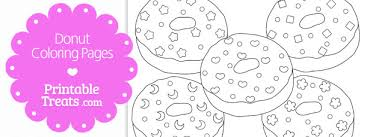 Small Picture Printable Donut Coloring Pages Printable Treatscom