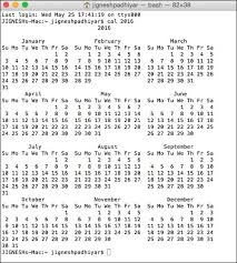 year calender how to view calendar on mac using terminal command line for any