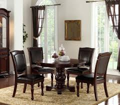 antique cherry dining room set round table chairs 2