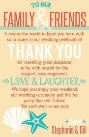 wedding welcome bags google search *real wedding ideas Wedding Thank You Cards Grandparents beach themed wedding welcome bag thank you note printable file brown, coral and turquoise wedding thank you card wording grandparents
