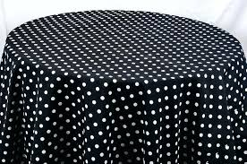 black and white polka dot tablecloth table cloths decor mechanics round plastic tablecloths