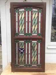 stained glass front door side panel
