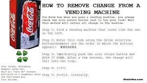 Vending Machine Hacks Codes