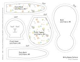 Free Bunny Pattern Template Interesting Inspiration Ideas