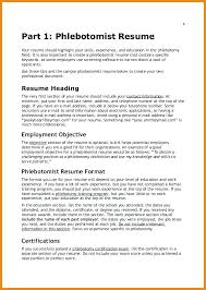 Phlebotomy Resume Example Bitacorita