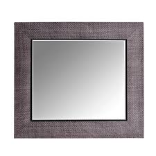 Contemporary Grey Hand-Woven Leather Framed Mirror - Contemporary  Transitional Mid-Century / Modern Art Deco Mirrors - Dering Hall