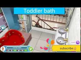 simsfreeplay how to have a toddler bath
