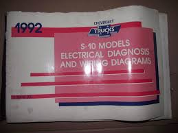 1992 chevy s 10 electrical diagnosis and wiring diagrams manual