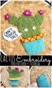 Cactus Embroidery Pattern Custom Design