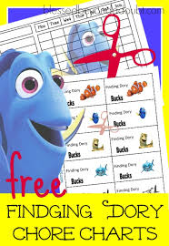 Chore Carts Free Finding Dory Chore Charts With Incentive Bucks