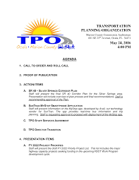 TRANSPORTATION PLANNING ORGANIZATION May 24, 2016 4:00 PM