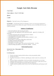 Sample Salesperson Resume Objective For Resume Car Salesman A Car Salesman Resume To Get The Job