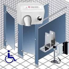 public bathroom partition hardware. public restroom toilet stall dividers, bathroom accessories, grab bars, shower partitions, and partition hardware