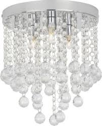 home faith 3 light beaded droplet flush ceiling fitting was view 31 of 45