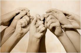 Image result for hands gathered  praying