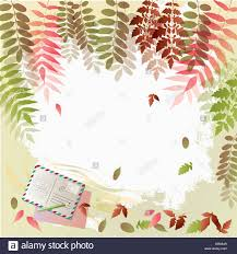 Memo Card Template Illustration Memo Template With Autumn Concept Featuring Post Card