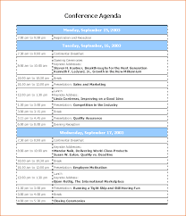 Conference Programme Sample