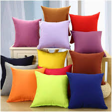 Coliang 2019 <b>Candy Solid Color</b> Throw Pillow Case Fashion ...