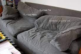 how to fix crumpled sofa back cushions
