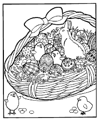 Easter Basket Coloring Page Crayolacom