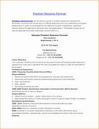 Resume For Fresher Teacher Job Good Resume Format For Teachers Awesome 24 Fresher Teacher Resume 11