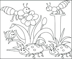 Coloring Pages Free Printable Spring Kids Activities Easter Bunny ...