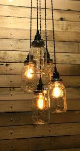mason jar hanging lamp 5 jar pendant light mason jar chandelier by mason jar pendant light