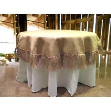 architecture glamorous burlap table linens whole 42 60 inch round white tablecloth natural with fringe x