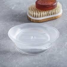 umbra vapor soap dish translucent white