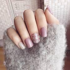 mauve nail polish beautiful foreverlily lattice solid fake nails short 24pcs blue purple full