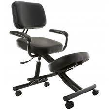 comfort office chair. Sierra Comfort SC-350 Ergonomic Silver Frame Black Leather Kneeling Chair Office